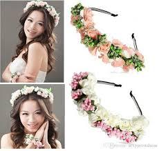 bridal garland 2018 summer colorful wedding garland bohemian headbands with