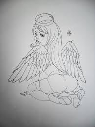 angel tattoo design by tattoosuzette d4as0kp tattoos book