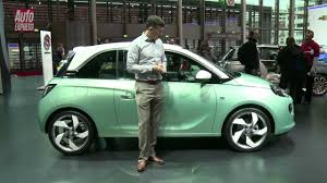 opel paris vauxhall opel adam at the paris motor show auto express youtube