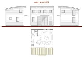 floor plans for cabins 16x34 with loft plus 6x34 porch side