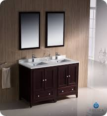 48 Inch Bathroom Vanity Fresca Fvn20 2424mh Oxford 48 Inch Mahogany Traditional Double