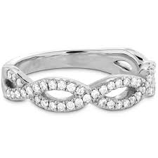 Infinity Wedding Rings by Diamond Destiny Twist Infinity Wedding Ring By Hearts On Fire