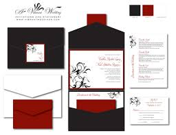 Quinceanera Invitation Cards Red And Black Quinceanera Invitations Kawaiitheo Com