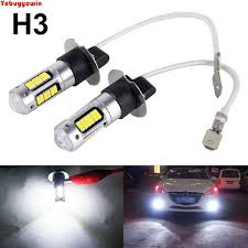 led replacement light bulbs for cars 2pcs new style w chips white 30 smd 4014 h3 led replacement