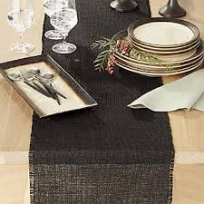 Kitchen Table Runners by Table Runners Linen Cotton And Polyester Crate And Barrel