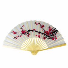 folding fans bulk 9 cherry blossom silk fans for weddings 10 pack