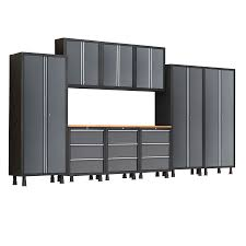 shop newage products bold 168 in w x 72 in h gray steel garage