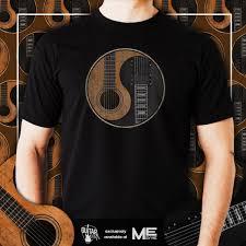 yin yang guitar mens tshirt small to 5xl me by me