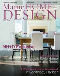 Home And Design Magazine Press Cook And Cook Custom Cabinets From Maine