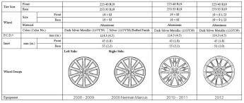 2007 lexus is250 wheel size wheels going from stock to stock clublexus lexus forum