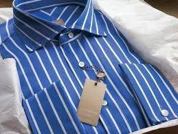 gitman golden elite super 120 u0027s blue striped men u0027s dress shirt