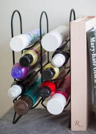 Best Way To Clean Up Hair In Bathroom 24 Life Changing Ways To Store Your Beauty Products Wine Rack