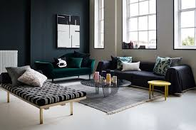 dark green modern living room wall paint colour ideas