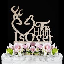 buck and doe wedding cake topper wedding cake topper the hunt is the hunt is wedding