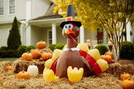 turkey inflatables thanksgiving outdoor decorations lighted iron centerpieces