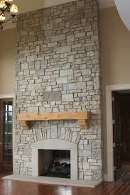 interior design stone fireplace stone veneer surround faux wall
