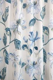 Blue And White Floral Curtains Gorgeous Blue And White Floral Curtains In Siracusa Indigo By
