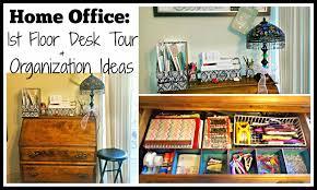 home office 1st floor desk tour u0026 organization ideas video