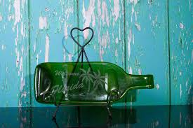 melted wine bottle platter melted wine bottle cheese platter etched with welcome to florida