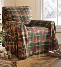 Green Sofa Slipcover by Red And Green Plaid Tablecloth Sofa Cover Table Linens