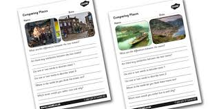 comparing places worksheets comparing places places