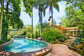 Pool Landscape Design by Tropical Trees And Springs Pool Landscapes 52318