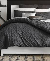 Newsprint Comforter Bar Iii Box Pleat Carbon Collection Bedding Collections Bed