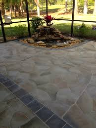 Sealer For Stone Patio by Concrete Designs Florida Flagstone Patio