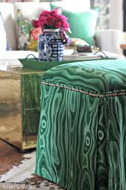 Diy Reupholster Ottoman by Dimples And Tangles Diy Upholstered Ottomans Almost No Sew