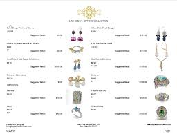 Jewelry Inventory Spreadsheet Template by Sell Jewelry Jewelry Software Line Sheet Jewelry Design
