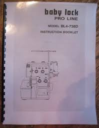 bl4 738d baby lock proline serger overlock users guide owners