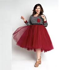 aliexpress com buy red tulle skirt plus size skirts women a line