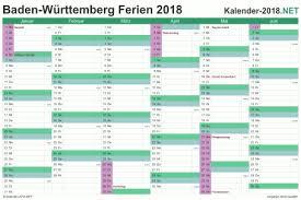 Kalender 2018 Hamburg Feiertage Ferien Baden Württemberg 2018 Ferienkalender übersicht