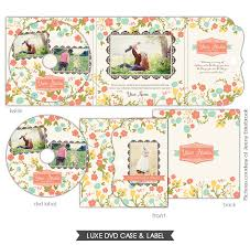 luxe dvd case and dvd label french garden