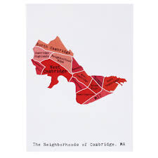 Map Note Map Of Cambridge Note Card April May Smudge Ink U2013 Smudgeink Com