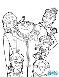 unique despicable me 3 coloring pages