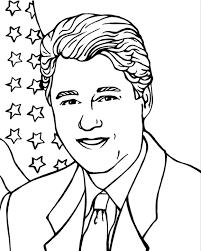 president bill clinton coloring page u0026 coloring book