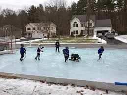 Backyard Ice Rink Tips Backyard Hockey Rinks From Simple To Elaborate The Columbian