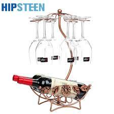 pattern for wine bottle holder hipsteen flower pattern iron 6 wine glass hanger goblet drying rack