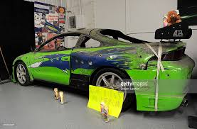 mitsubishi eclipse fast and furious paul walker memorial display at rod city las vegas photos and