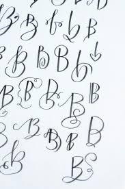 50 ways to draw a u0027b u0027 brush lettering practice creativity