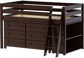 Twin Beds With Drawers Castello Cherry Twin Jr Loft Bed With 6 Drawer Dresser U0026 Bookcase