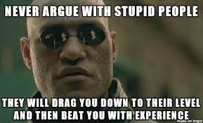 People Are Stupid Meme - never argue with stupid people meme on imgur