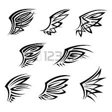 black tribal tattoo designs with isolated wings also may bu