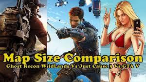 Map Size Comparison Tom Clancy U0027s Ghost Recon Wildlands Map Size Comparison Gta V