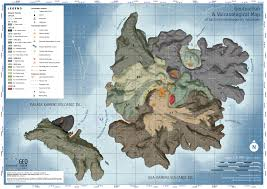 Santorini Greece Map by Staridas Geography The Volcano Of Santorini