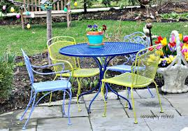 Mesh Patio Furniture Patio Ideas White Metal Patio Table And Chairs White Cast Iron