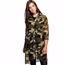 camo blouse camouflage sheer shirt style camo print blouses