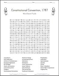 constitutional convention word search puzzle student handouts