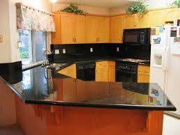 Small Corner Kitchens Small Corner Kitchen Spaces Decoration With Black Pearl Granite